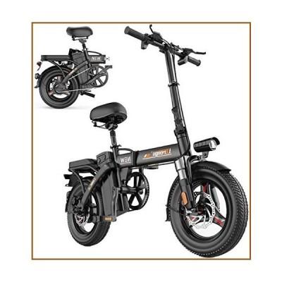 並行輸入品Electric Bike Electric Mountain Bike, Electric Bike for Adults, Foldable Electric Bicycle Commute Ebike with 280W Motor, 14 I