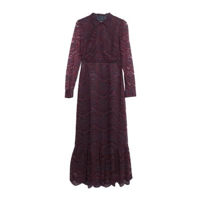 OTTOD'AME ロングワンピース&ドレス ディープパープル 44 レーヨン 100% ロングワンピース&ドレス