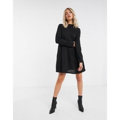 ブレーブソウル レディース ワンピース トップス Brave Soul jersey swing dress in black Black