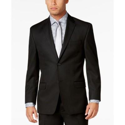 ショーンジョン メンズ ジャケット・ブルゾン アウター Men's Classic-Fit Black Solid Jacket
