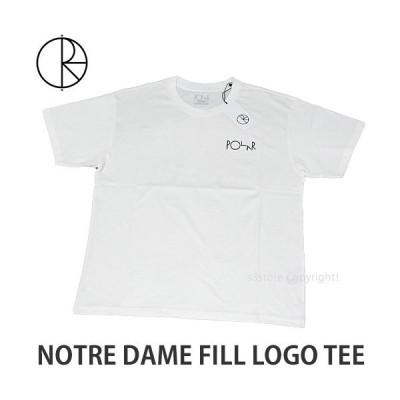 ポーラー スケート カンパニー ノートルダム ロゴ ティー POLAR SKATE CO NOTRE DAME FILL LOGO TEE Tシャツ 半袖 メンズ カラー:WHITE