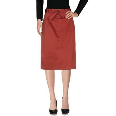 OTTOD'AME 7分丈スカート ボルドー 44 ポリエステル 100% 7分丈スカート