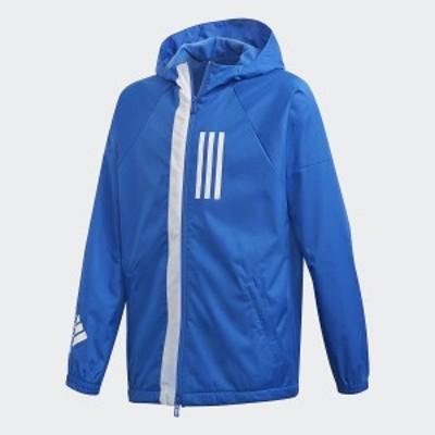 【セール】 アディダス ジュニアスポーツウェア ウインドジャケット B WND ジャケット FYB02 DZ1828 ボーイズ ブルー/ホワイト