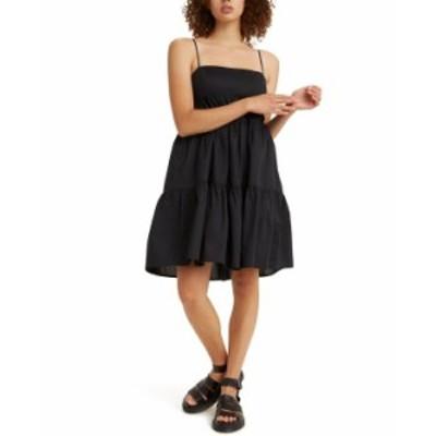 リーバイス レディース ワンピース トップス Clea Cotton Tiered Dress Caviar