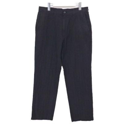 【11月2日値下】COMME des GARCONS HOMME ストライプパンツ 17SS ブラック サイズ:S (奈良三条通り店)