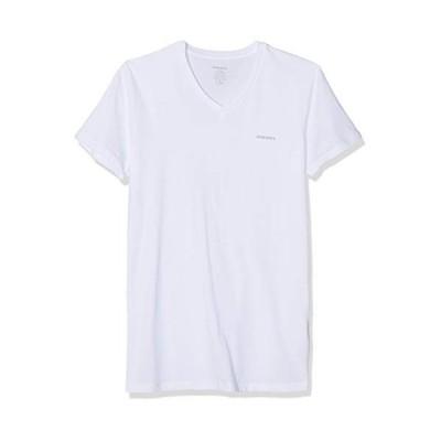 Diesel Men's Jake 3-Pack Essentials V-Neck T-Shirt, White, S