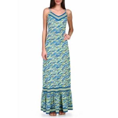 マイケルコース レディース ワンピース トップス Women's 60s Wave Maxi Dress Bright Limeade