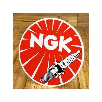 ステッカー 車 アメリカン おしゃれ バイク ヘルメット かっこいい NGK ラウンド サイズL メール便OK_SC-GA81-TMS