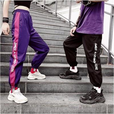 パンツ ダンス衣装 レディース スウェットパンツ ウエストゴム ヒップホップ 運動パンツ ダンスウェア hiphopステージ 公演服 大きいサイズ