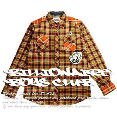 Billionaire Boys Club (ビリオネアボーイズクラブ) ネルシャツ ウエスタンシャツ Multi Plaid Long Sleeve Woven Orange