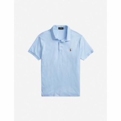 ラルフ ローレン POLO RALPH LAUREN メンズ ポロシャツ トップス Logo-embroidered cotton polo shirt BLUE