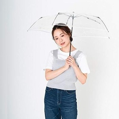 [ムーンバット] estaa(エスタ) 透明ビニール折りたたみ傘 無地 ホワイト 50?【透明・軽量】