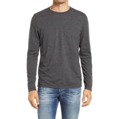 エージー AG メンズ 長袖Tシャツ トップス Clyde Long Sleeve T-Shirt Heather Charcoal