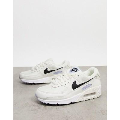 ナイキ レディース スニーカー シューズ Nike Air Max 90 sneaker in cream with black swoosh Cream
