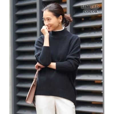 【ICB】 Soft Cashmere Mix ハイネックニット(番号CL2 レディース ブラック系[限定] M ICB
