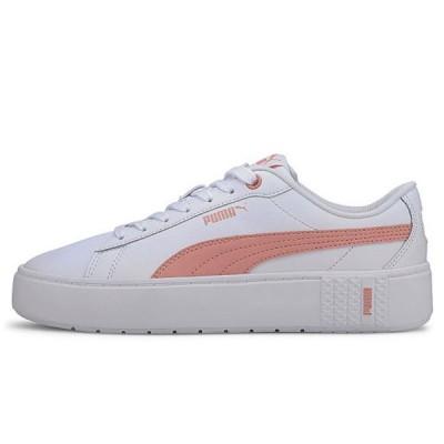 PUMA Women's Smash Platform v2 L Sneakers White/Pink 37303505 (2007)