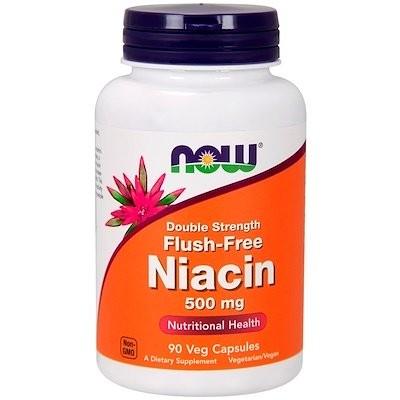 フラッシュフリーナイアシン、強さ2倍、500 mg、90野菜カプセル