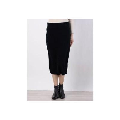 リネーム Rename リブウエストニットスカート (ブラック)