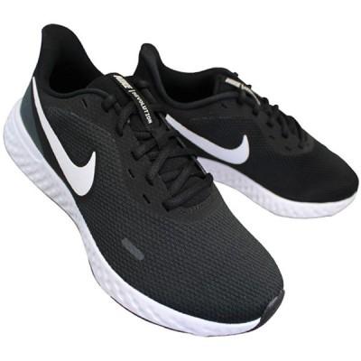 ナイキ NIKE BQ6714-003 レボリューション 5(4E) ブラック/ホワイト REVOLUTION 5 4E メンズ  スニーカー 靴 紐靴 4E 幅広 ゆったり BQ-6714