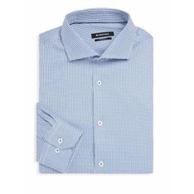 ブガッチ メンズ ドレスシャツ ワイシャツ Shaped-Fit Patterned Dress Shirt