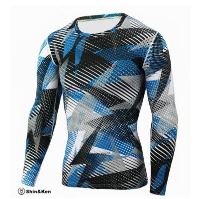 メンズ 長袖 トップス Tシャツ インナー カットソー カジュアル ジム トレーニング エクササイズ 秋冬 mpmns908