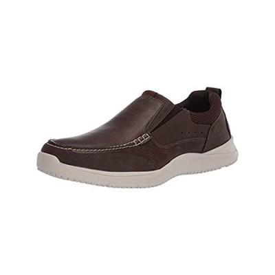 Nunn Bush Men's Conway Boat Shoe Slip-On Loafer, Brown, 7.5