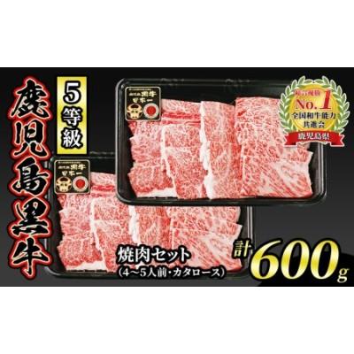 s042 (K-103) 5等級鹿児島黒牛 焼肉セット(4~5人前) 計600g【JA北さつま】