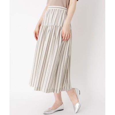 SUTSESO(スチェッソ) 【LIZA(リザ)】ストライプギャザー切り替えスカート