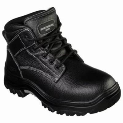 スケッチャーズ ブーツ Work Relaxed Fit Burgin Congaree Boot Black