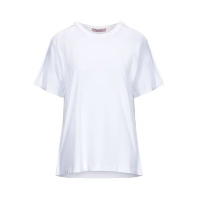 ROSE' A POIS T シャツ ホワイト 44 コットン 94% / ポリウレタン 6% T シャツ