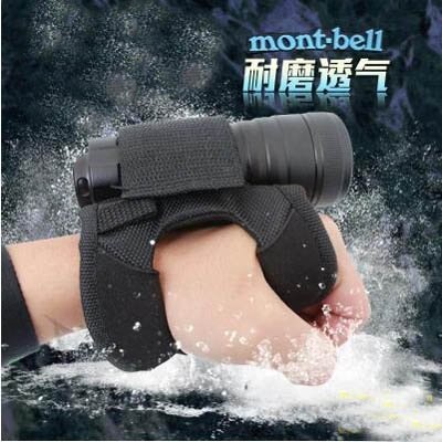 【潛水手套-尼龍-均碼-1件/組】耐磨防水強光潛水手電筒手套手腕套(不包括手電筒)-7670615