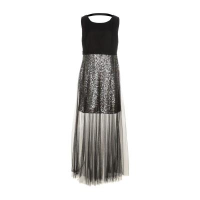 MY SECRET BLACK DRESS ロングワンピース&ドレス ブラック 46 ポリエステル 100% ロングワンピース&ドレス