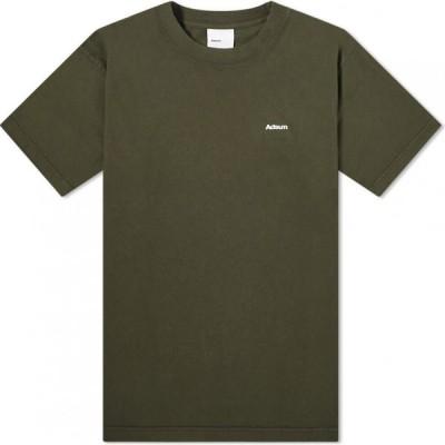 アドサム Adsum メンズ Tシャツ ロゴTシャツ トップス Core Logo Tee Dark Green