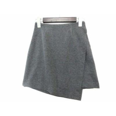 【中古】エモダ EMODA スカート S 灰 グレー ラップ 巻き アシンメトリー 041630850101 レディース