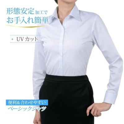 レディースシャツ 長袖 形態安定 標準型 PLATEAU P31PLA549