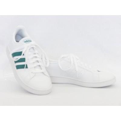 adidas アディダス グランドコート EE7905 ホワイト/グリーン カジュアルシューズ GRANDCOURT BASE メンズ