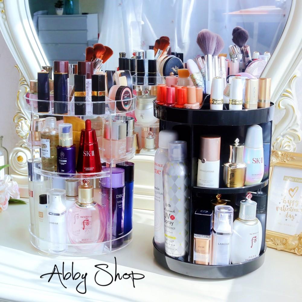 abby生活百貨360度旋轉化妝品收納盒 化妝品收納 壓克力收納 居家收納 (五款)