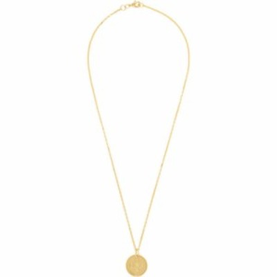 オフホワイト Off-White メンズ ネックレス ジュエリー・アクセサリー Gold Small Logo Cross Necklace