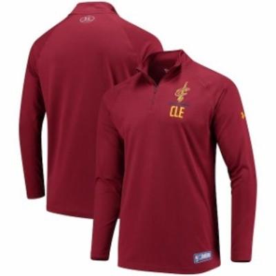 Under Armour アンダー アーマー スポーツ用品  Under Armour Cleveland Cavaliers Wine Tech Quarter-Zip Sweatshirt
