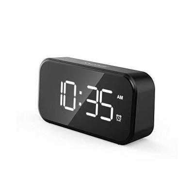 目覚まし時計 5インチ大型LEDデジタル目覚まし時計 USBポート付き携帯電話充電器 0-100%調光器 タッチアクティベ?