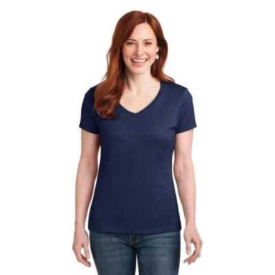 ユニセックス 衣類 トップス Hanes Ladies Nano-T Cotton V-Neck T-Shirt グラフィックティー