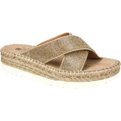ホワイトマウンテン White Mountain レディース サンダル・ミュール シューズ・靴 Kimberly Criss Cross Slide Sand Fabric