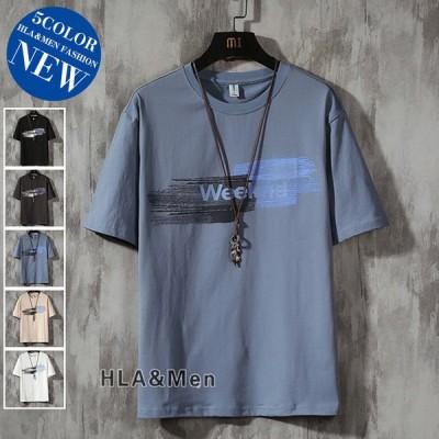 半袖Tシャツ メンズ Tシャツ カットソー 染めTシャツ カジュアルTシャツ 英字 トップス 夏 サマー