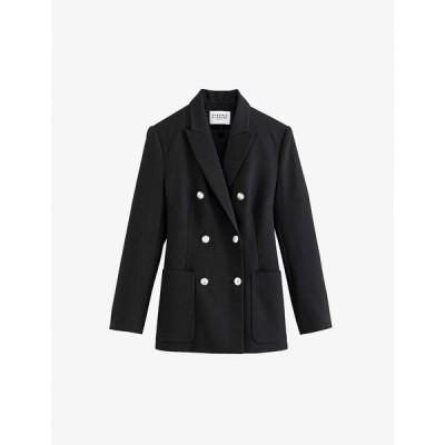クローディ ピエルロ CLAUDIE PIERLOT レディース スーツ・ジャケット アウター Jewel button woven blazer BLACK