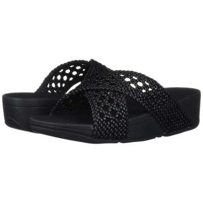 レディース 靴 コンフォートシューズ FitFlop Womens Lulu Wicker Fabric Open Toe Beach Platform Sandals
