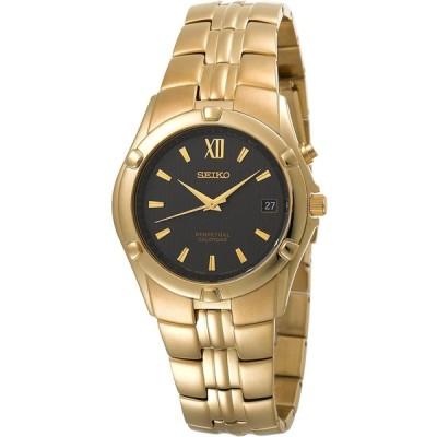 セイコーMen 's snq070 Perpetual Calendarゴールド調時計 並行輸入品