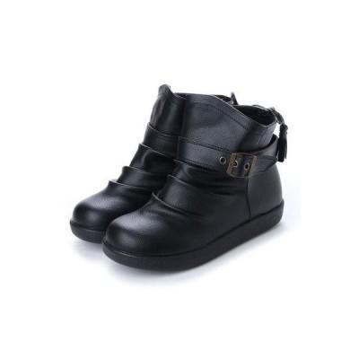 ヌーベルヴォーグ リラックス NOUBEL VOUG Relax ベルト&フリンジ付き軽量ショートブーツ (ブラック)