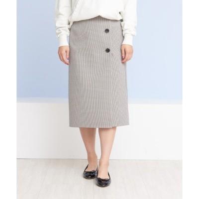 スカート 【2WAY】チェックリバースカート