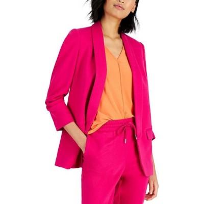 バースリー Bar III レディース スーツ・ジャケット アウター Ruched-Sleeve Blazer Pink Punch