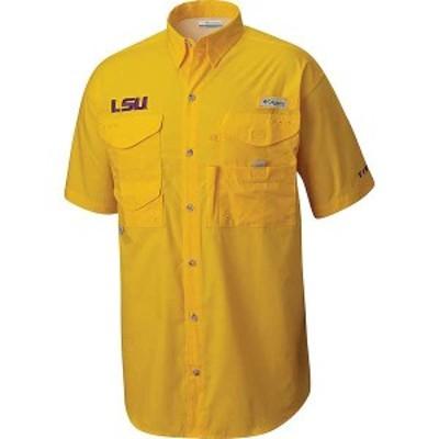 コロンビア メンズ シャツ トップス Columbia Men's Collegiate Bonehead SS Shirt Lsu - Yellow